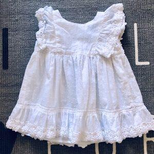 Baby gap white cotton dress